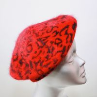 Red Leopard Beret SN880